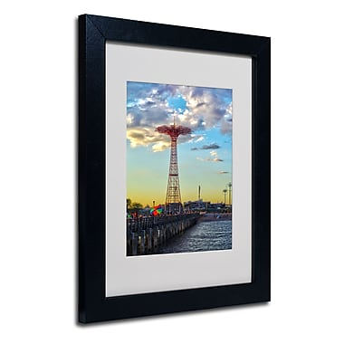 Trademark Fine Art CATeyes 'Coney Island' Matted Art Black Frame 11x14 Inches