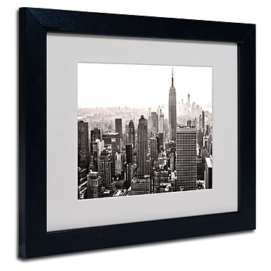 Trademark Fine Art CATeyes 'Manhattan' Matted Art Black Frame 11x14 Inches
