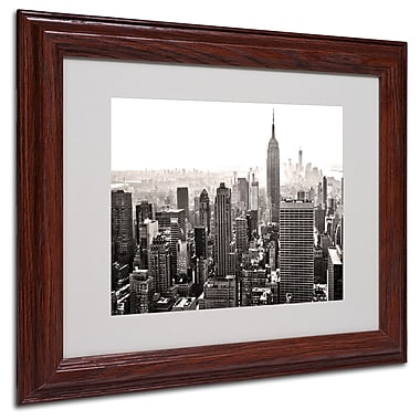 CATeyes 'Manhattan' Matted Framed Art - 11x14 Inches - Wood Frame