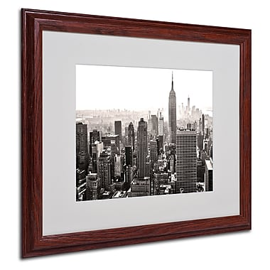 CATeyes 'Manhattan' Matted Framed Art - 16x20 Inches - Wood Frame
