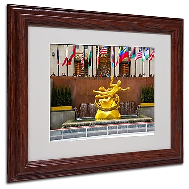 CATeyes 'Prometheus' Matted Framed Art - 11x14 Inches - Wood Frame
