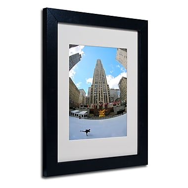 Trademark Fine Art CATeyes 'Rockefeller Center' Matted Framed Art