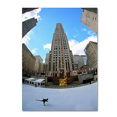 Trademark Fine Art CATeyes 'Rockefeller Center' Canvas Art 14x19 Inches