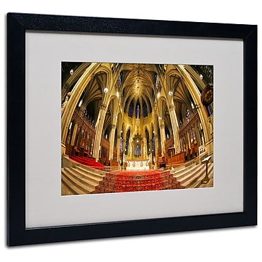 Trademark Fine Art CATeyes 'St. Patrick's' Matted Art Black Frame 16x20 Inches