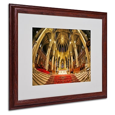 CATeyes 'St. Patrick's' Matted Framed Art - 16x20 Inches - Wood Frame