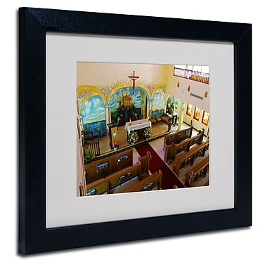 Trademark Fine Art CATeyes 'Virgin Islands' Matted Art Black Frame 11x14 Inches