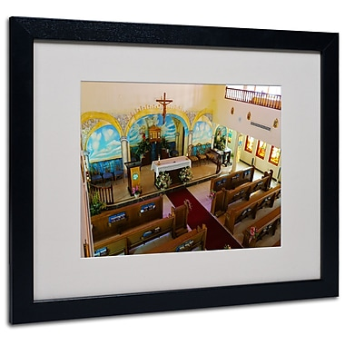Trademark Fine Art CATeyes 'Virgin Islands' Matted Art Black Frame 16x20 Inches