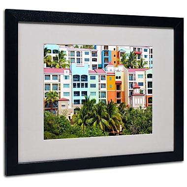 Trademark Fine Art CATeyes 'Virgin Islands 2' Matted Art Black Frame 16x20 Inches