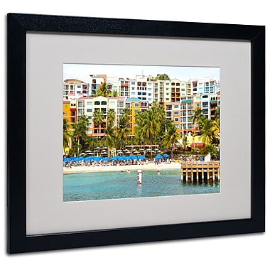Trademark Fine Art CATeyes 'Virgin Islands 8' Matted Art Black Frame 16x20 Inches