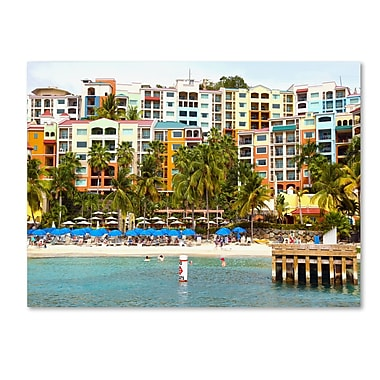 Trademark Fine Art CATeyes 'Virgin Islands 8' Canvas Art 14x19 Inches