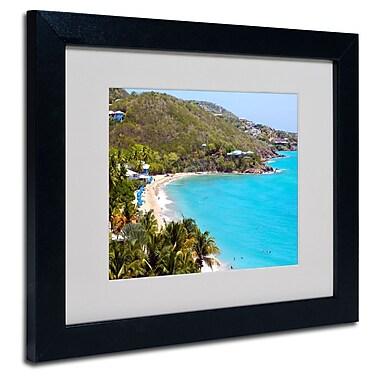 Trademark Fine Art CATeyes 'Virgin Islands 10' Matted Art Black Frame 11x14 Inches