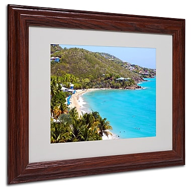CATeyes 'Virgin Islands 10' Matted Framed Art - 11x14 Inches - Wood Frame
