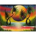 Trademark Fine Art Lagoon at Sunset by Conrad Canvas Art Ready to Hang