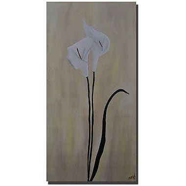 Trademark Fine Art Nicole Dietz Calla Pair Gallery Wrapped Canvas Art 12x24 Inches