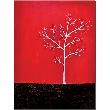 Trademark Fine Art Red on White Series by Nicole Dietz Art Ready to Hang