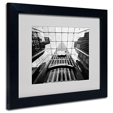 Trademark Fine Art Nina Papiorek 'NYC Big Apple II' Matted Art Black Frame 11x14 Inches