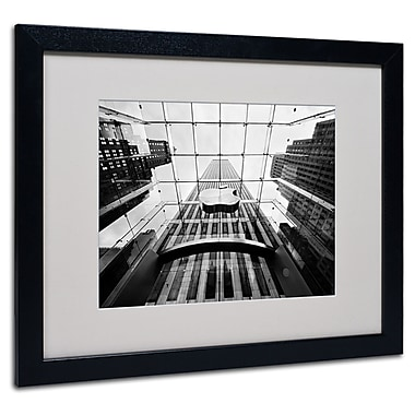 Trademark Fine Art Nina Papiorek 'NYC Big Apple II' Matted Art Black Frame 16x20 Inches