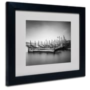 Trademark Fine Art Nina Papiorek 'Venice Dream' Matted Art Black Frame 11x14 Inches
