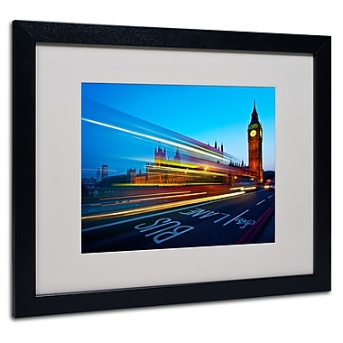 Trademark Fine Art Nina Papiorek 'London Big Ben II' Matted Art Black Frame 16x20 Inches