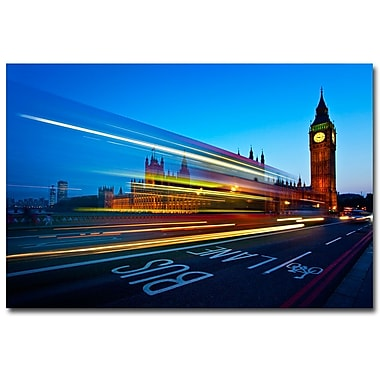 Trademark Fine Art Nina Papiorek 'London Big Ben' Canvas Art 30x47 Inches