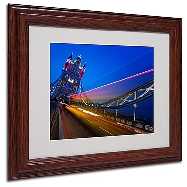 Trademark Fine Art Nina Papiorek 'London Big Ben' Matted Art White Frame 11x14 Inches
