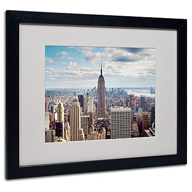 Trademark Fine Art Nina Papiorek 'Empire View' Matted Art Black Frame 16x20 Inches