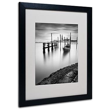 Trademark Fine Art Nina Papiorek 'Venice Canal Grande' Matted Art Black Frame 16x20 Inches