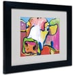 Trademark Fine Art Pat Saunders-White 'Cold Hands' Matted Art Black Frame 11x14 Inches