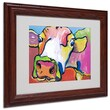 Pat Saunders-White 'Cold Hands' Framed Matted Art - 11x14 Inches - Wood Frame