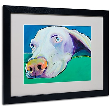 Trademark Fine Art Pat Saunders-White 'Fritz' Matted Art Black Frame 16x20 Inches