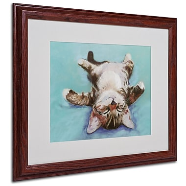 Pat Saunders-White 'Little Napper' Framed Matted Art - 16x20 Inches - Wood Frame