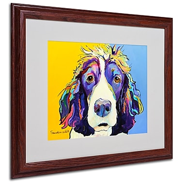 Pat Saunders-White 'Sadie' Framed Matted Art - 16x20 Inches - Wood Frame