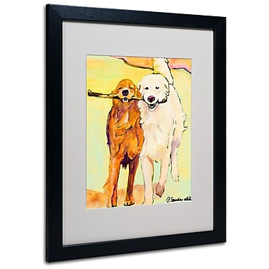 Trademark Fine Art Pat Saunders 'Stick With Me 1' Matted Art Black Frame 16x20 Inches