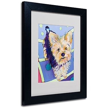 Trademark Fine Art Pat Saunders-White'Claire' Matted Art Black Frame 11x14 Inches