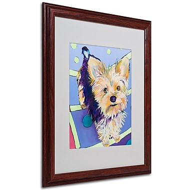 Pat Saunders-White 'Claire' Framed Matted Art - 16x20 Inches - Wood Frame