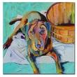 Trademark Fine Art Pat Saunders-White 'Basket Retriver' Canvas Art 24x24 Inches