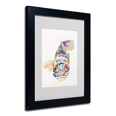 Trademark Fine Art Pat Saunders-White 'Blue Fish' Framed Matted Art
