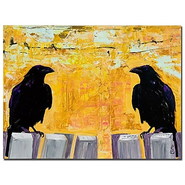 Trademark Fine Art Pat Saunders-White 'Gossiping' Canvas Art