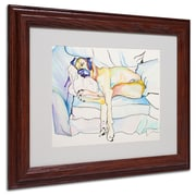 Pat Saunders 'Sleeping Beauty' Matted Framed Art - 11x14 Inches - Wood Frame
