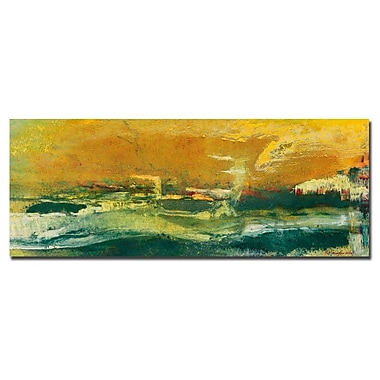 Trademark Fine Art Pat Saunders-White 'Green Edge' Canvas Art