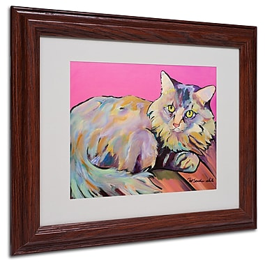 Pat Saunders 'Catatonic' Matted Framed Art - 11x14 Inches - Wood Frame