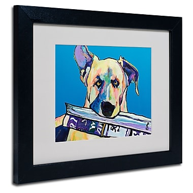 Trademark Fine Art Pat Saunders 'Daily Duty' Matted Art Black Frame 11x14 Inches