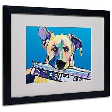 Trademark Fine Art Pat Saunders 'Daily Duty' Matted Art Black Frame 16x20 Inches