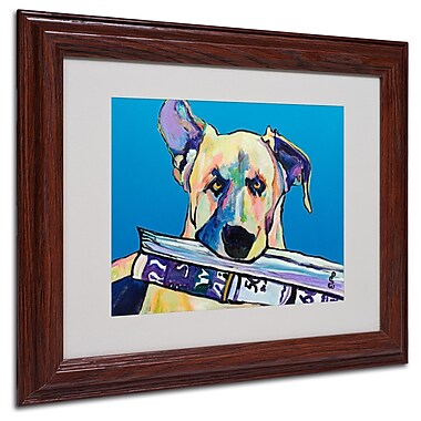 Pat Saunders 'Daily Duty' Matted Framed Art - 11x14 Inches - Wood Frame