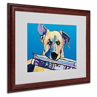 Pat Saunders 'Daily Duty' Matted Framed Art - 16x20 Inches - Wood Frame