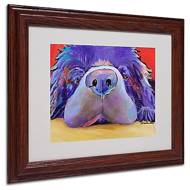 Pat Saunders 'Graysea' Matted Framed Art - 11x14 Inches - Wood Frame