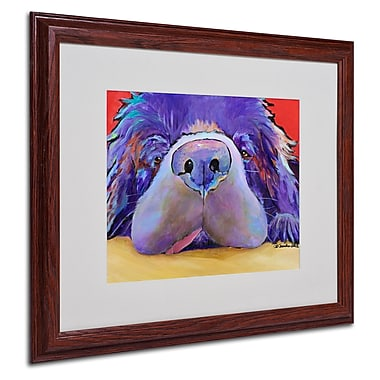 Pat Saunders 'Graysea' Matted Framed Art - 16x20 Inches - Wood Frame