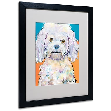 Trademark Fine Art Pat Saunders 'Lulu' Matted Art Black Frame 16x20 Inches