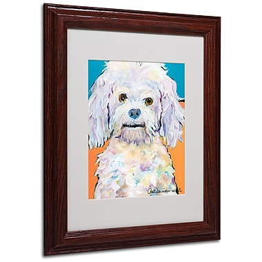 Pat Saunders 'Lulu' Matted Framed Art - 11x14 Inches - Wood Frame