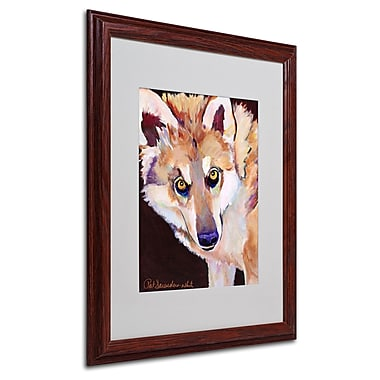 Pat Saunders 'Night Eyes' Matted Framed Art - 16x20 Inches - Wood Frame